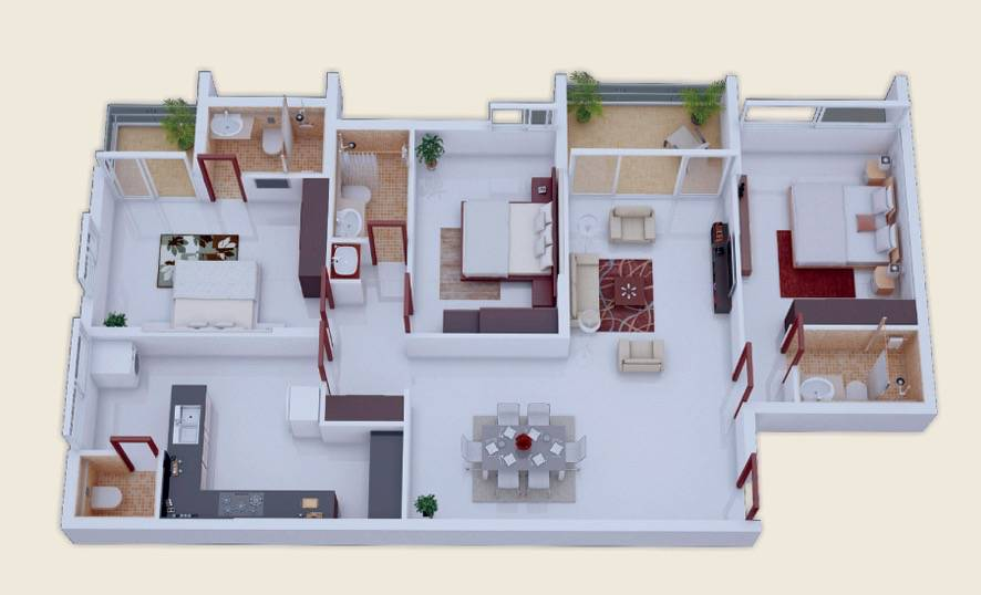 mau-nha-1-tang-23-decorate-three-bedrooms