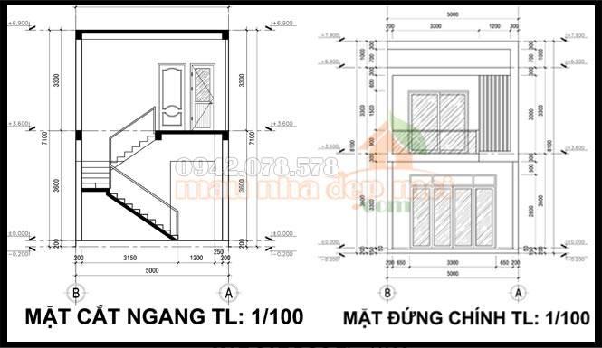 mau-nha-pho-2-tang-5x15-ban-ve-cad-mau-thiet-ke-nha-2-tang-5m