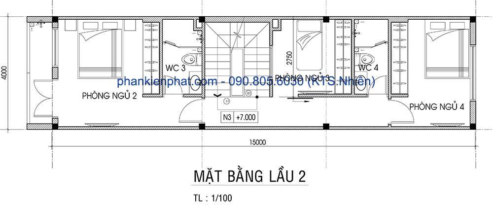mau-nha-lech-tang-4x16-mat-bang-lau-2-nha-pho-4-tang-dien-tich-4x15m-4074